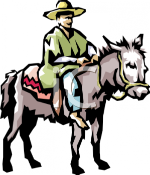 299x350 Royalty Free Donkey Clip Art, Farm Animal Clipart
