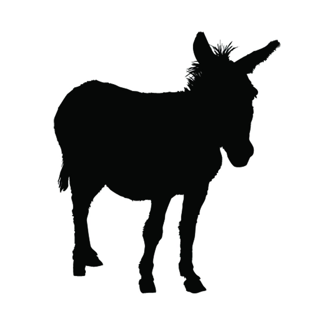 1100x1100 Donkey Silhouette