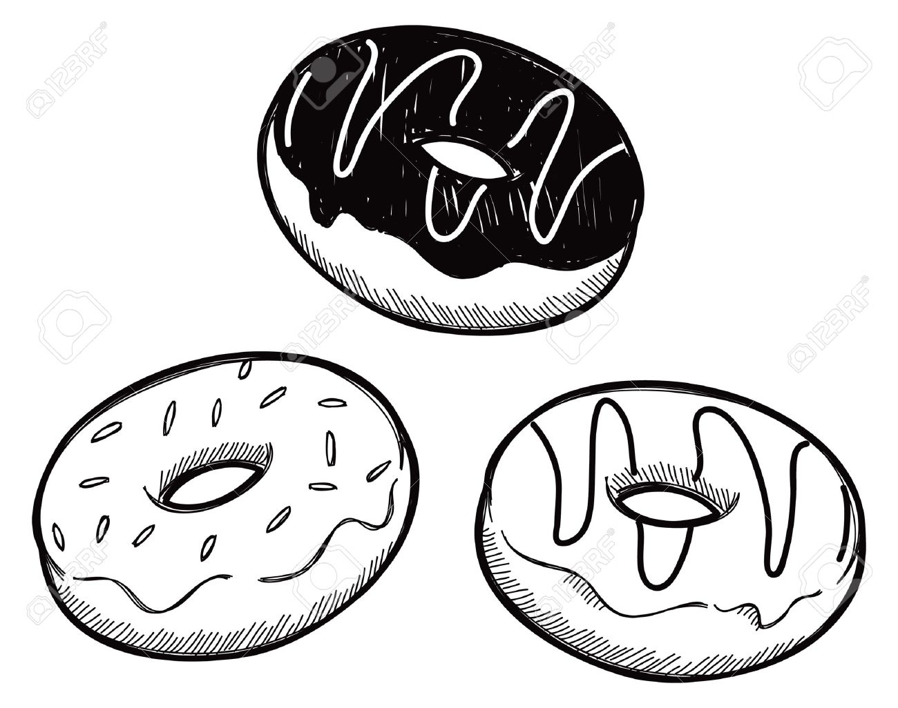 Donut Clipart Black And White | Free download on ClipArtMag