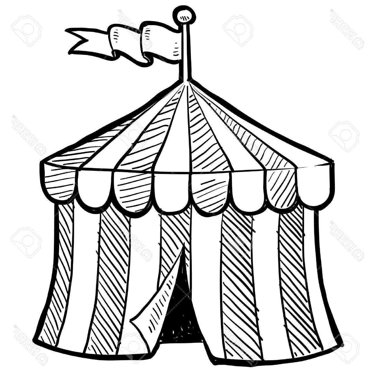 1300x1300 Best Hd Doodle Style Circus Tent In Vector Format Stock Design