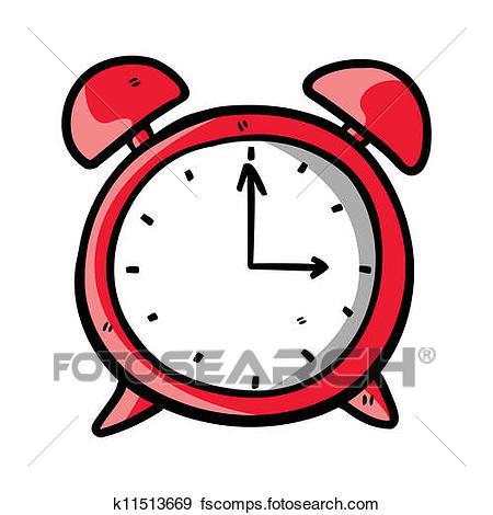 450x470 Clip Art Of Clock Doodle K11513669