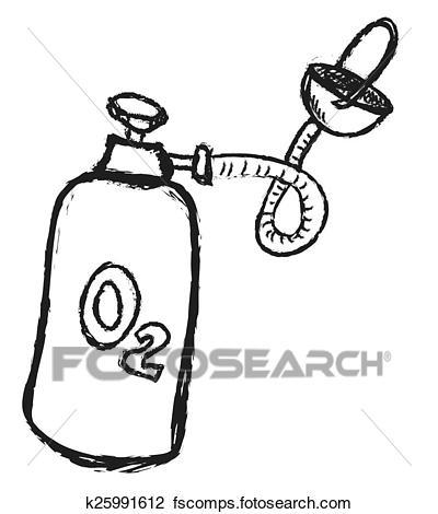 400x470 Clip Art Of Doodle Oxygen K25991612