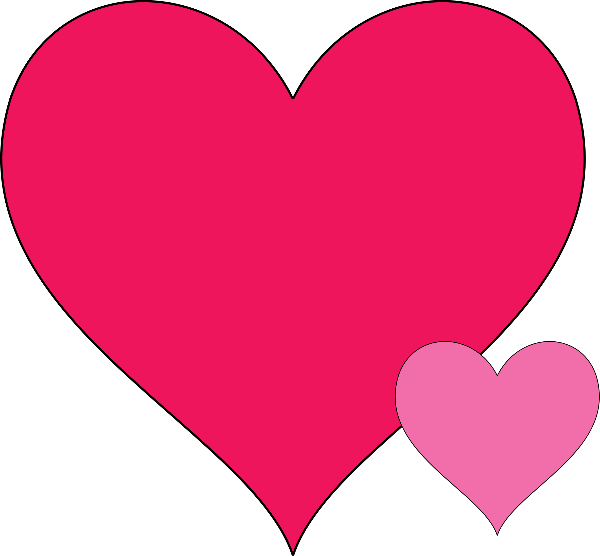 2366x2192 Clipart Double Hearts Doodle