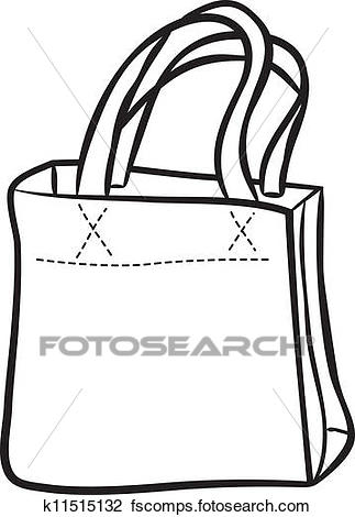 323x470 Clipart Of Shopping Bag Doodle K11515132