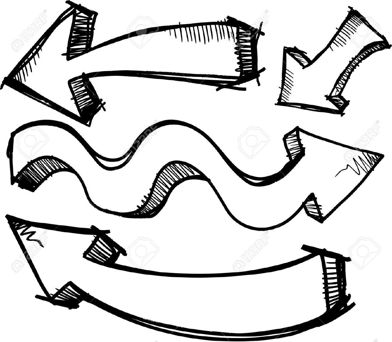 1300x1136 Arrow Clipart Doodle