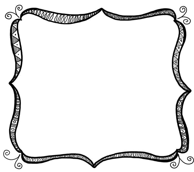736x653 Best Doodle Frames Ideas Doodle Boarders