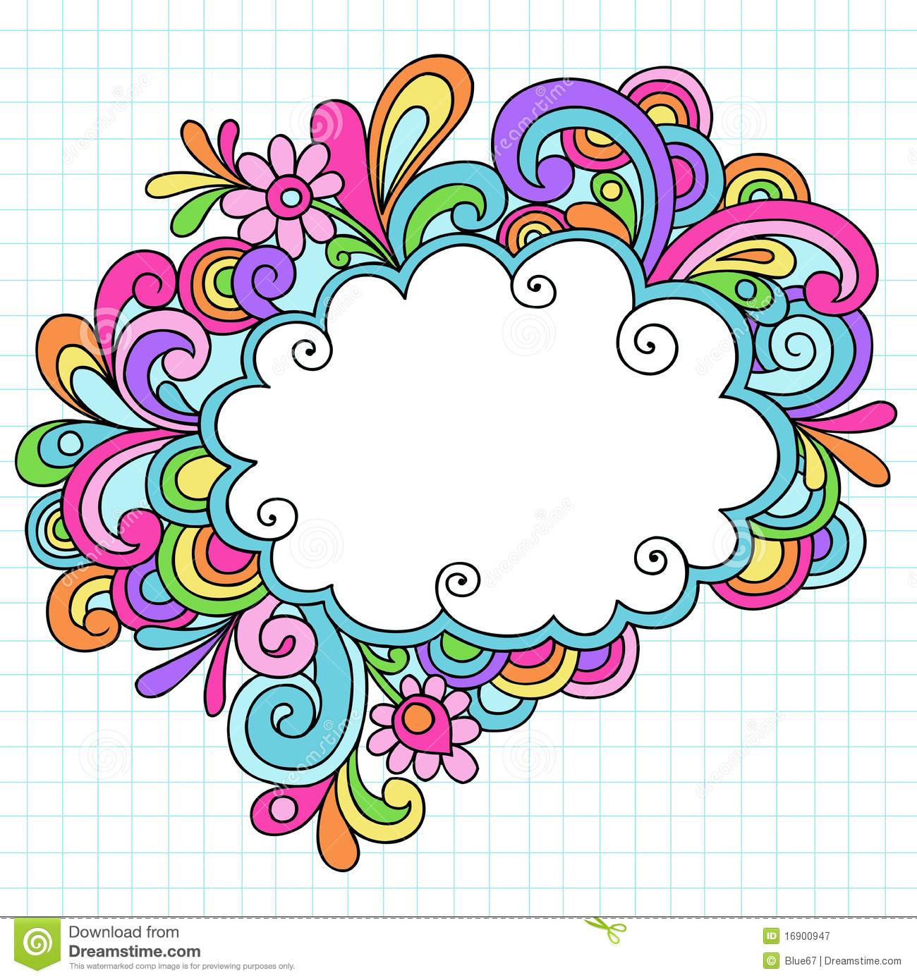 1300x1390 Cloud Clipart Doodle