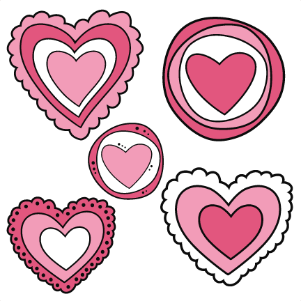 432x432 Doodle Hearts Svg Cutting Files Doodle Cut Files For Scrapbooking