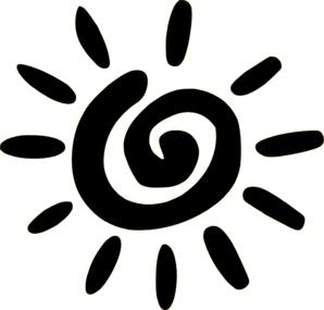 298x285 Doodle Sun Black Clip Art
