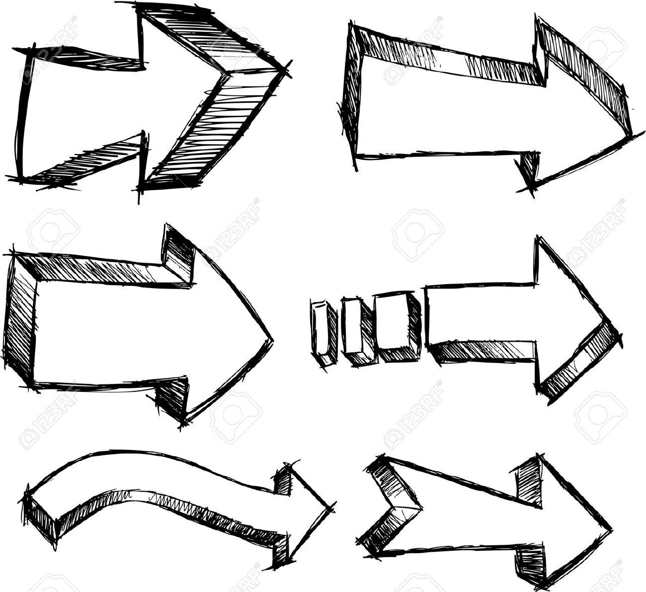 1300x1192 Doodle Arrow Clip Art