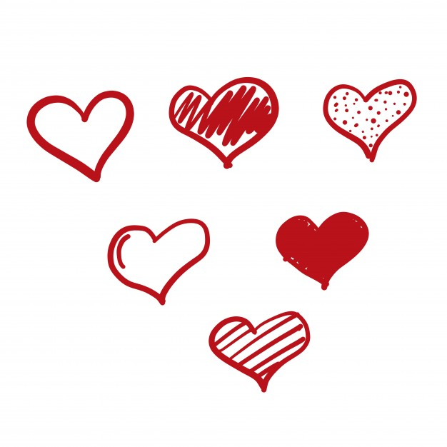 626x626 Doodle Love Icon Vector Free Download