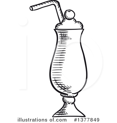 400x420 Drawn Milkshake Doodle