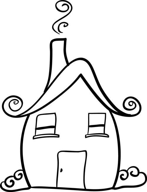 500x650 House Doodle Cliparts