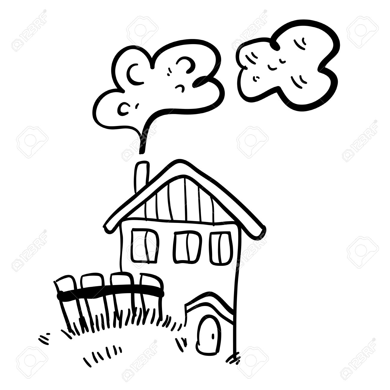 1300x1300 Old House Clipart Simple