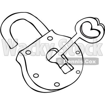 400x400 Clipart Illustration Of A Key On A Keyring, Inside A Door Knob