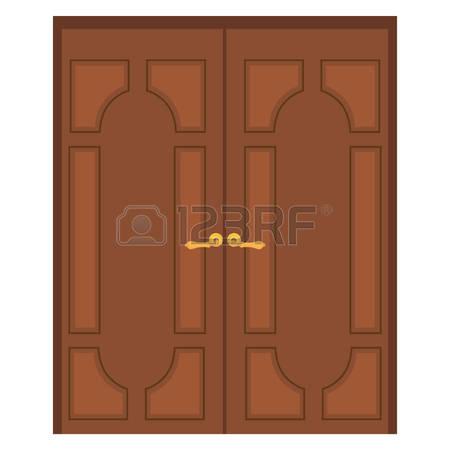 450x450 Closed Double Door Clipart