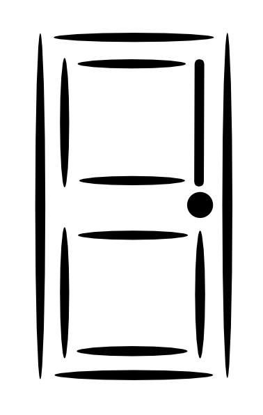 378x596 White Door Clip Art