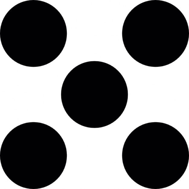 626x626 Five Dots Like A Dice Icons Free Download