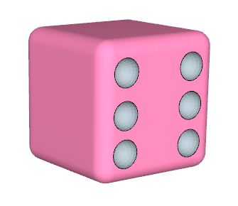 335x290 How To Draw A Dice With Round Corners And Inward Hemispheres As