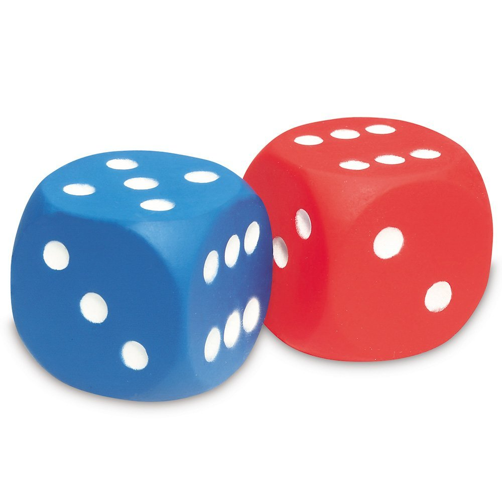 1000x1000 Learning Resources Foam Dot Dice Amazon.co.uk Toys Amp Games