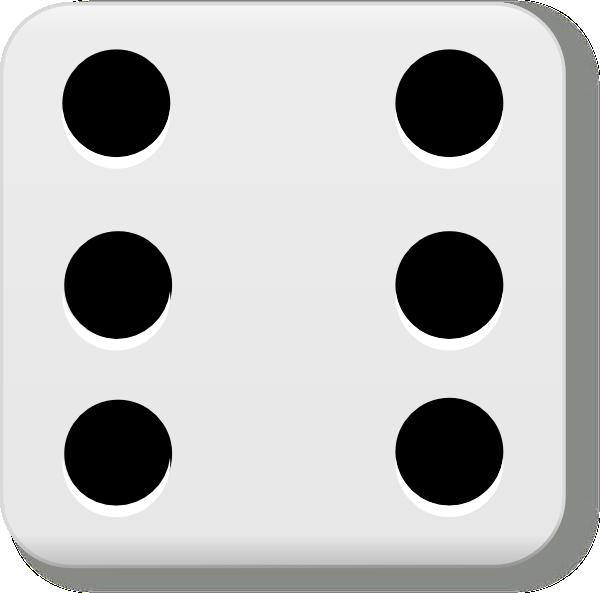 600x593 6 Dice Dots Clipart