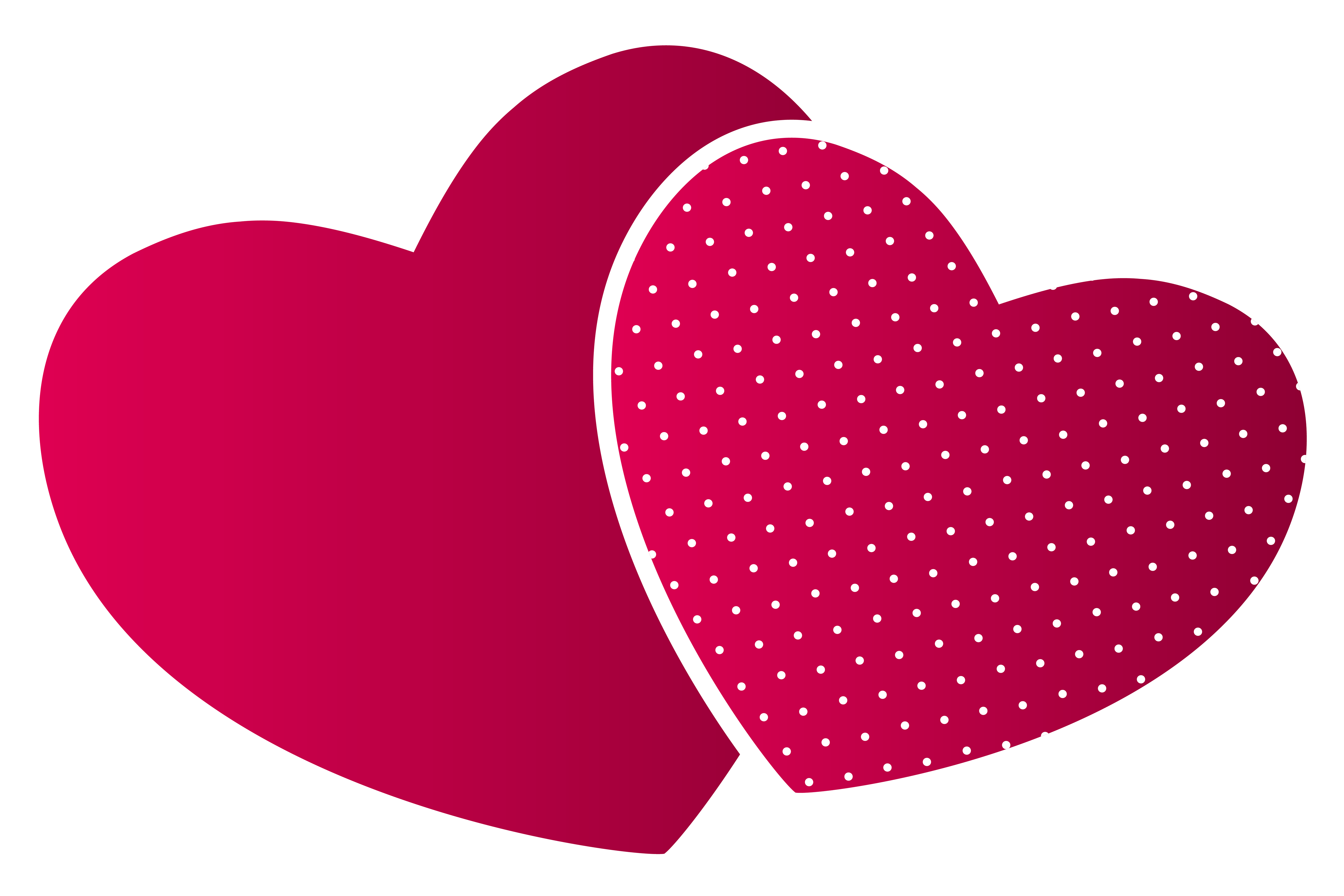 5000x3333 Double Hearts Png Clipart