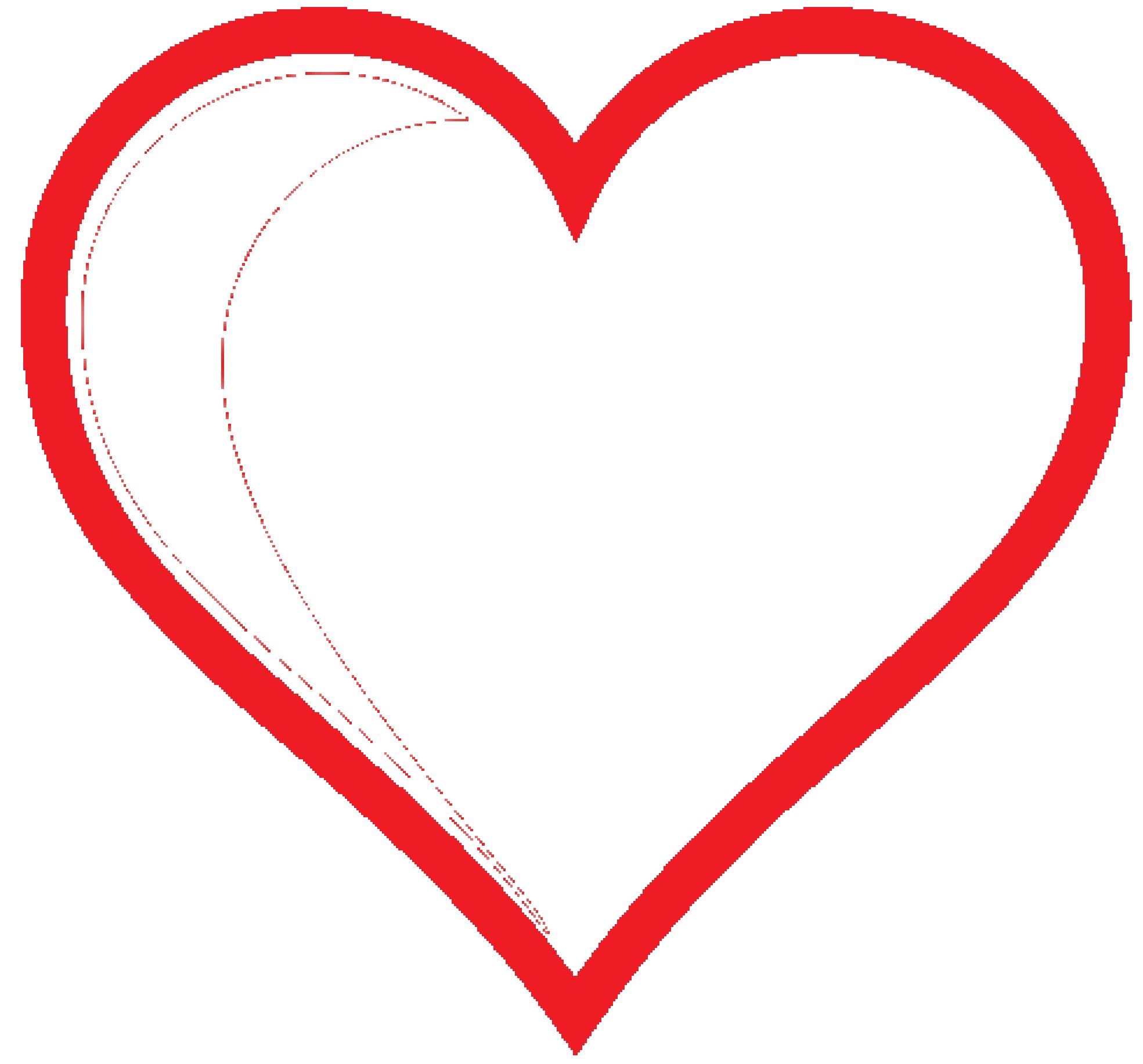 1969x1833 Double Heart Printable Double Border Heart Clip Art