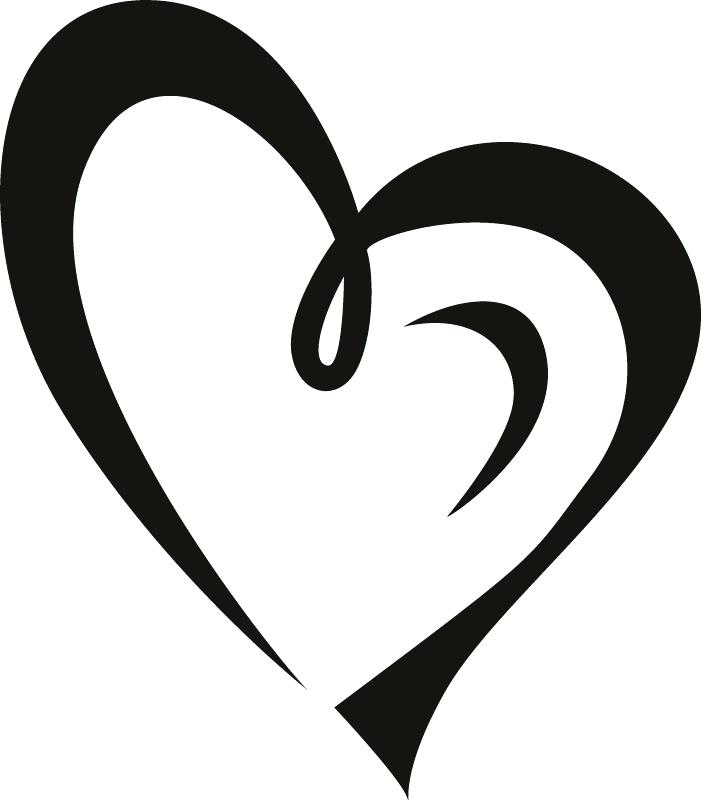 702x800 Clipart Heart Heart Border Black And White For Heart Border Black