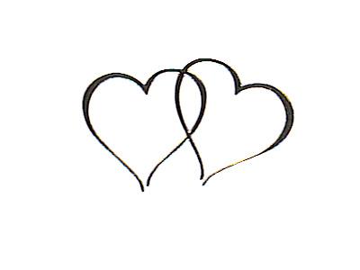 400x300 Double Hearts Wedding Clipart