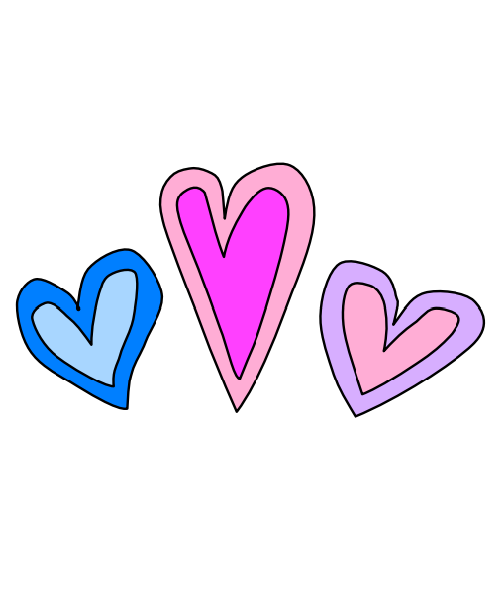 500x600 Double Hearts Fourtwinsisters