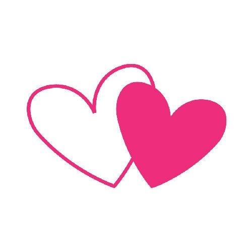 500x500 Hearts Clipart Double Heart