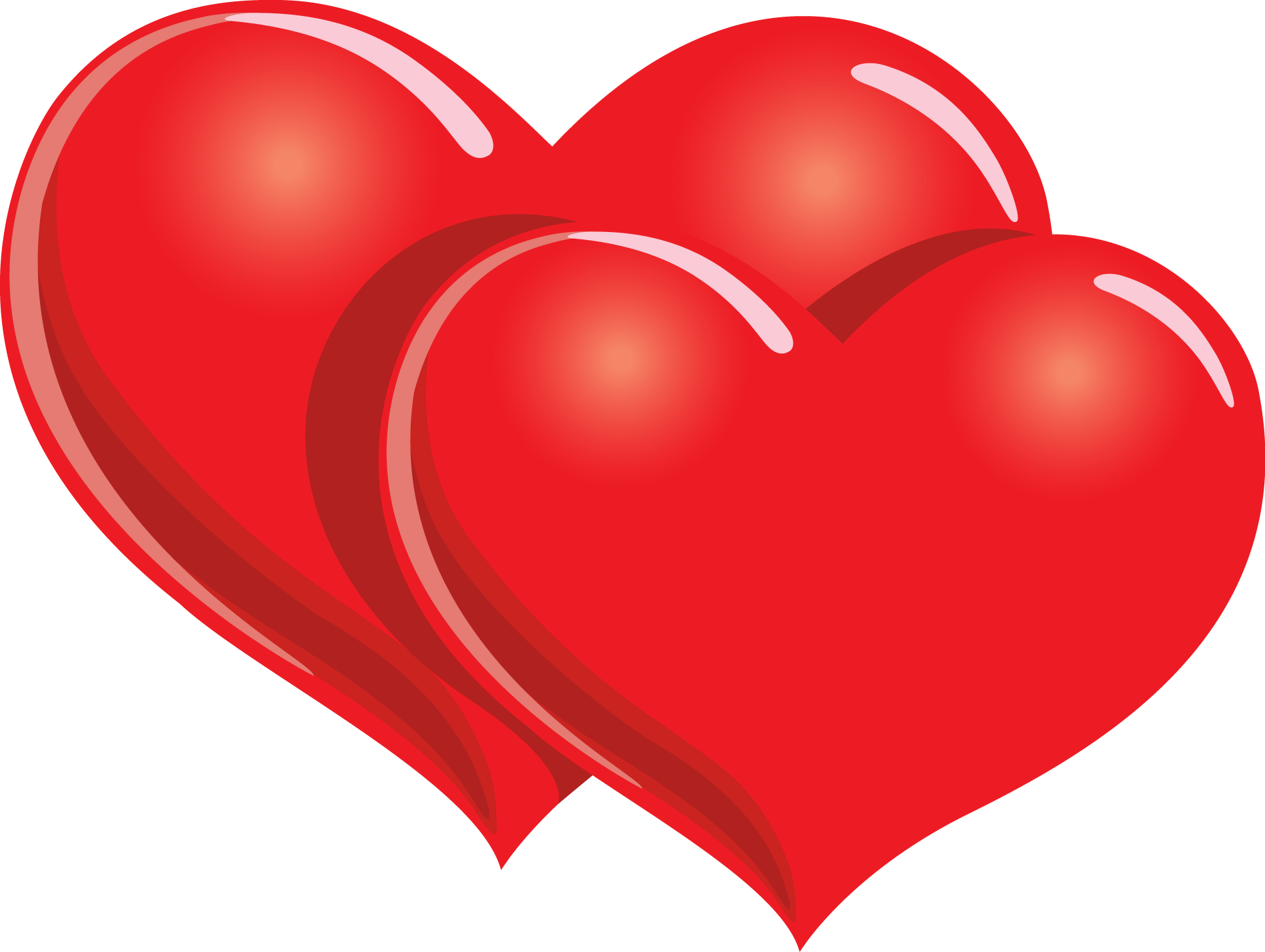 1897x1428 Red Double Heart Clipart