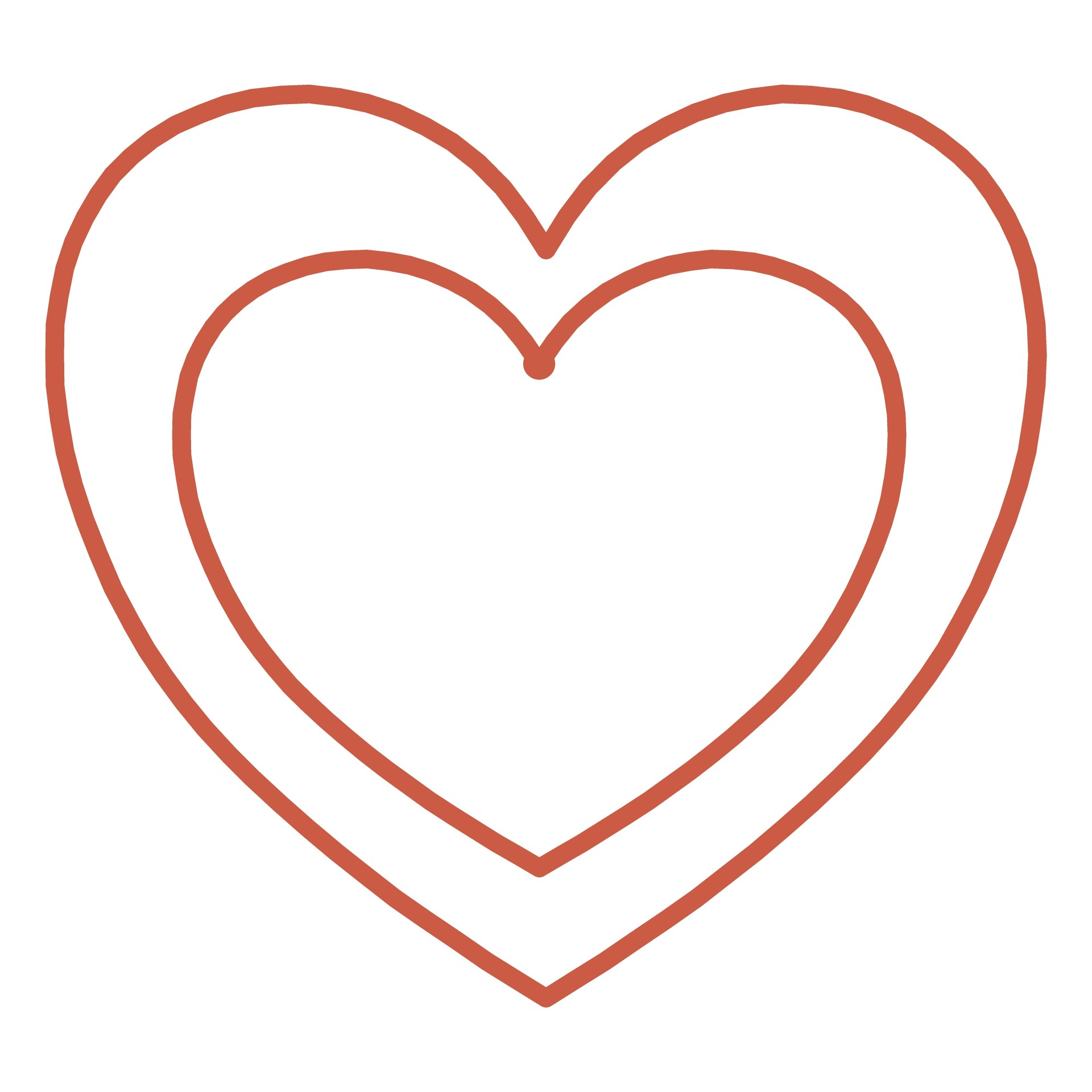 1920x1920 Two Hearts Outline Free Clipart