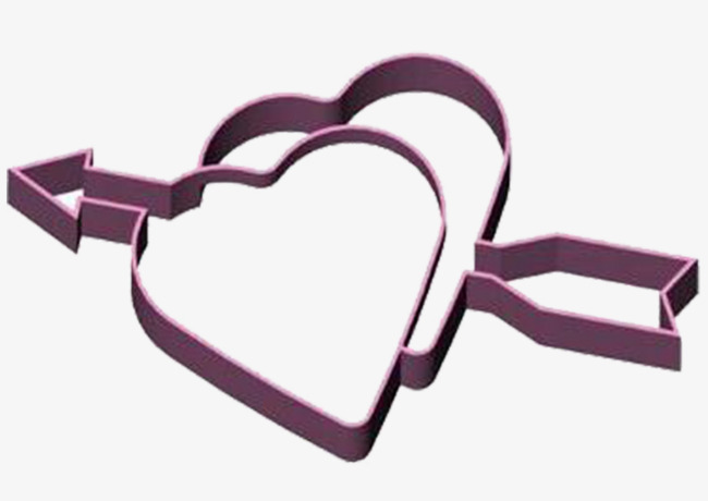 650x460 A Pair Of Double Heart Mold, Mold, Two Hearts, An Arrow Png