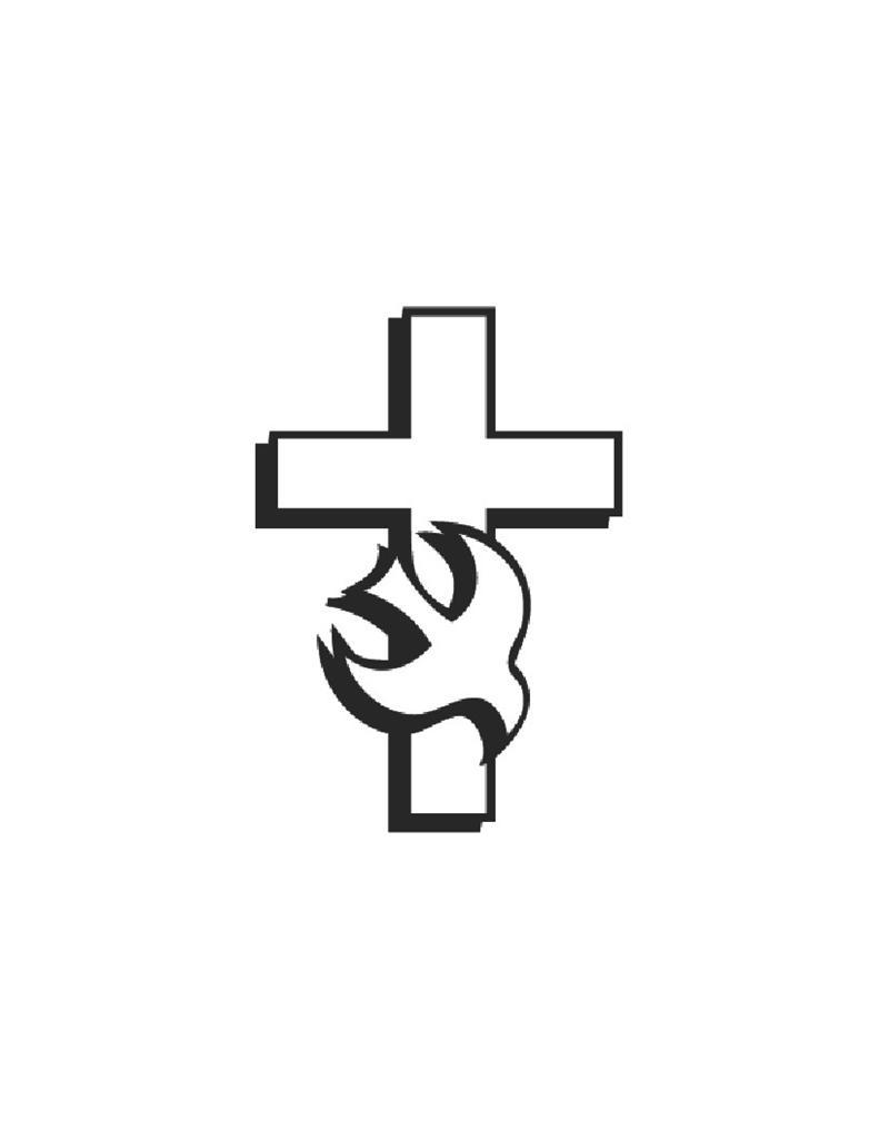 791x1024 Cross With Dove Clipart