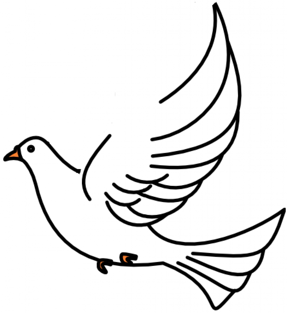 939x1024 Dove Black And White Clip Art Images Download