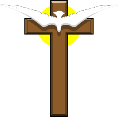 400x398 Image Dove Over Cross Cross Image
