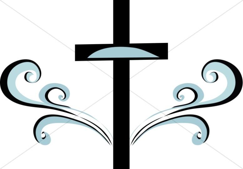 776x539 Blue And Black Swirl Cross Clipart Cross Clipart