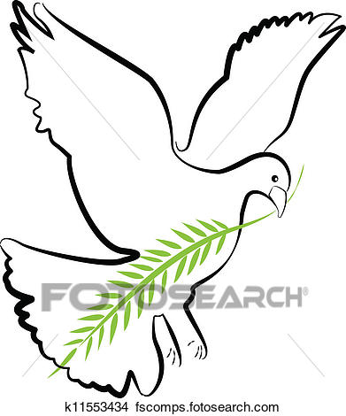 391x470 Clipart Of Dove Silhouette Vector K11553434