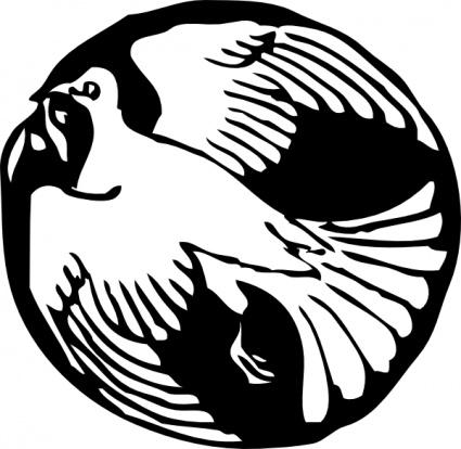 425x414 Flying Dove Clip Art Vector, Free Vectors