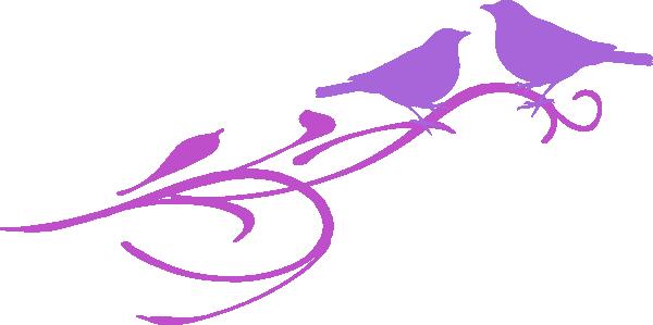 600x299 Love Birds Clip Art