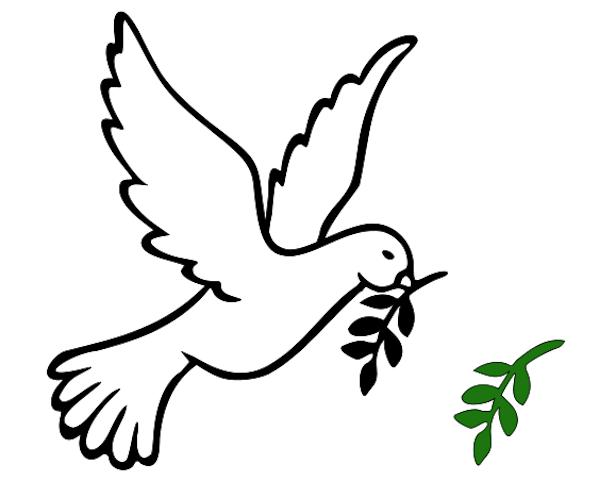 599x480 Peace Sign Clipart Dove