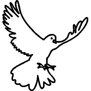 300x300 Pigeon Clipart Drawn