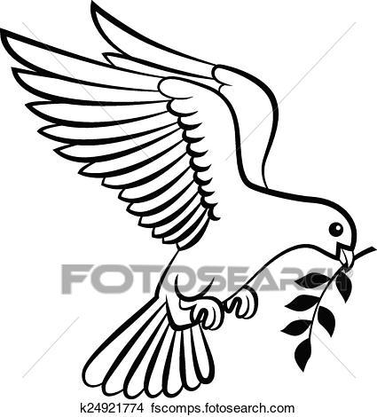 425x470 Clip Art Of Bird Holy Spirit Symbol Logo K24062969