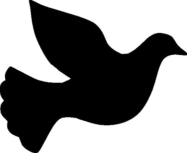 600x492 Dove Silhouette Clip Art