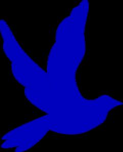 241x297 Blue Dove Clip Art