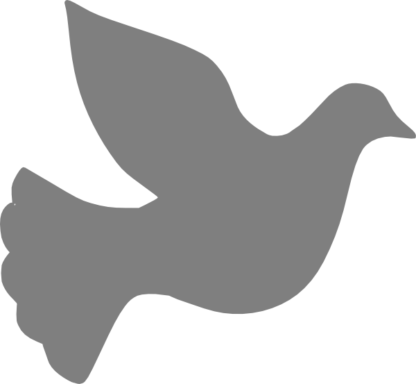 600x553 Grey Love Dove Clip Art