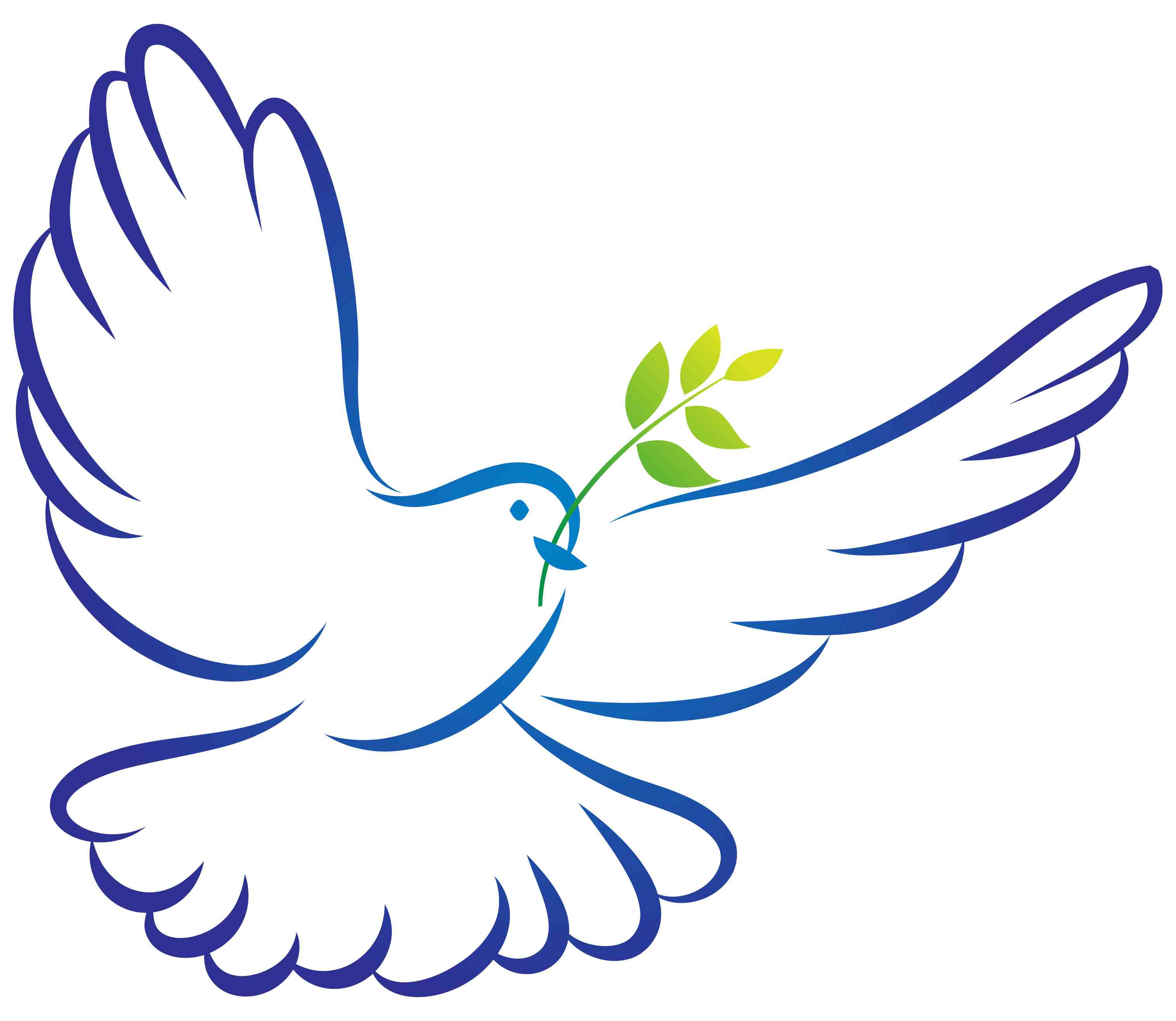 3035x2634 White Dove Clipart Flight Silhouette