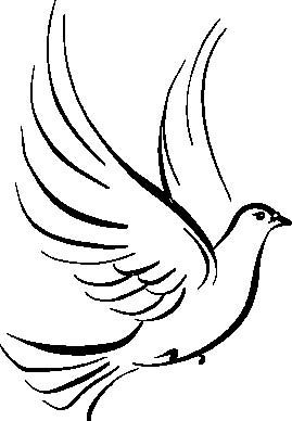 Dove Clipart Black And White