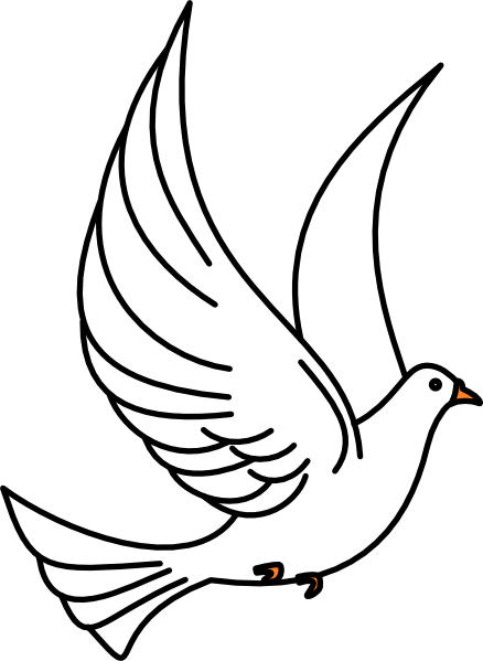 438x599 Flying Dove Clip Art